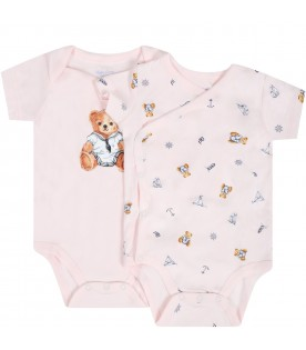 Pink set for babygirl with bears