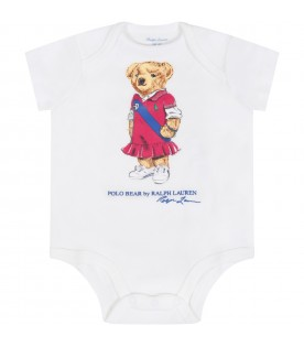 White body for babygirl with bear