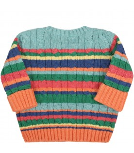 Multicolor sweater for babykids with pony logo