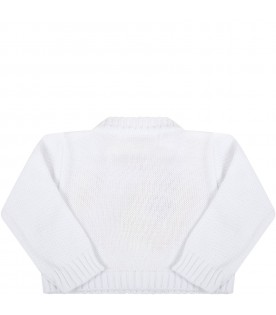 White cardigan for girl with hearts