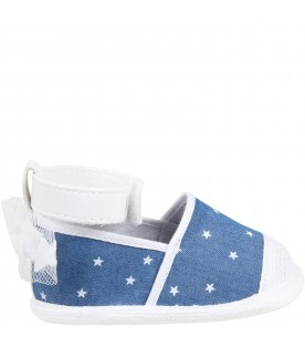 Blue espadrilles for babygirl with stars