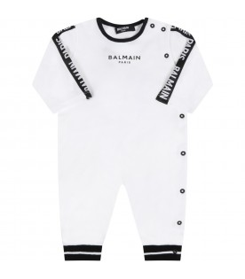 White set for babyboy with logo