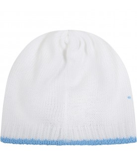 White hat for babyboy with polka-dots