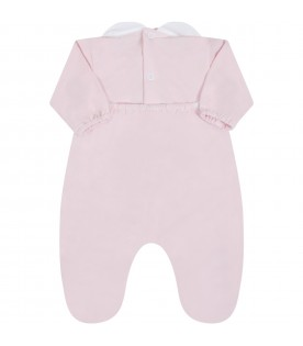 Pink babygrow for babygirl with writing