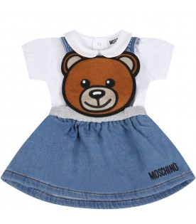 Multicolor set for babygirl with teddy bear