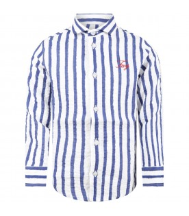 Multicolor shirt for boy with logo