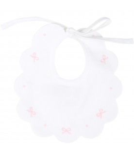 White bib for babygirl