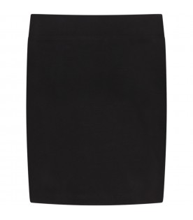 Black skirt for girl with logos