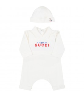 White set for babykids with logo