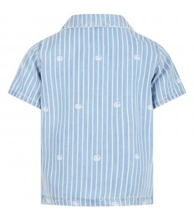 Multicolor shirt for boy with double GG