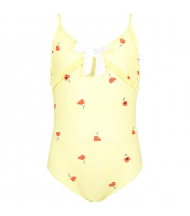 Yellow swimsuit for girl