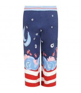 Blue trouser for girl with logo