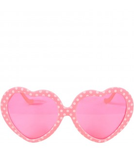 Neon fuchsia sunglasses for girl