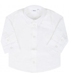 White shirt for babyboy with logo