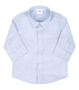 Light blue shirt for babyboy with logo