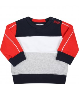 Multicolor sweatshirt for babyboy with logo