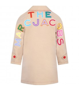 Reversible jacket for girl with logo