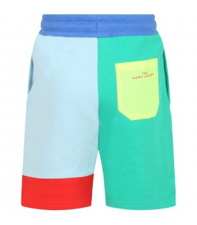 Multicolor short for boy with logo