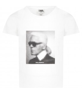 White t-shirt for girl with Karl Lagerfeld