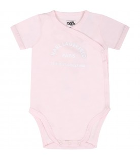 Multicolor set for babygirl with logo