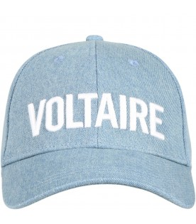 Light blue hat for boy with logo