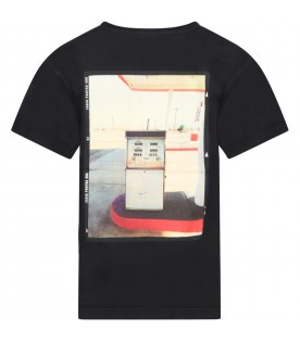 Black t-shirt for kids with print
