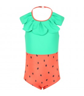 Multicolor swimsuit for girl