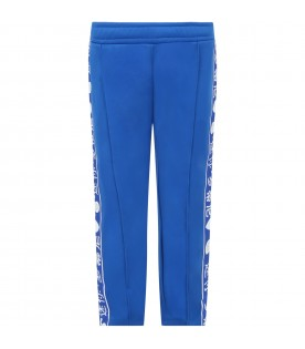 Blue trouser for kids with rabbits