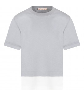 Gray T-shirt for kids with logo