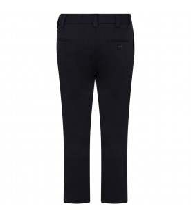 Blue trousers for boy with logo
