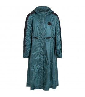 Green raincoat for girl