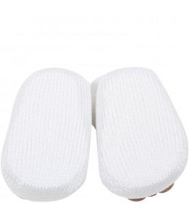 White slippers for baby boy