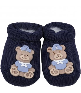 Blue slippers for baby boy