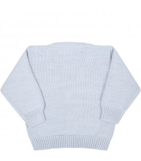 Light blue cardigan for babyboy