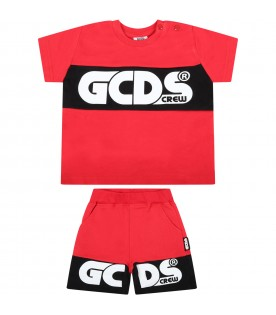 Red suit for babykids with logo
