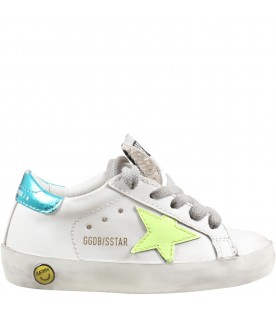 White ''Super star'' sneakers for kids
