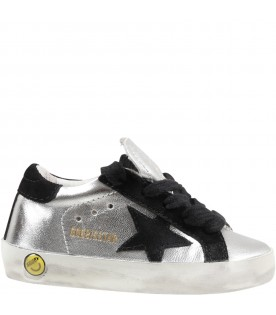 Silver ''Super star'' sneakers for girl