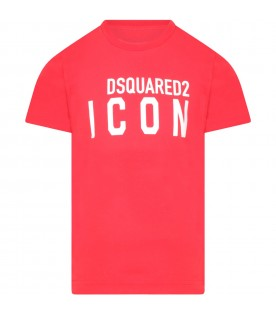 Red t-shirt for kids with logo