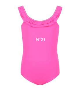 Fuchsia swimsuit for girl