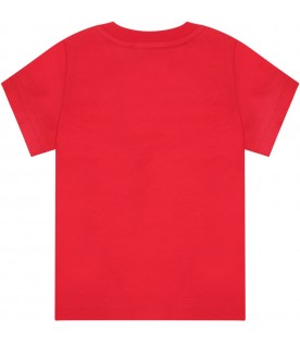 Red t-shirt for babykids with logo