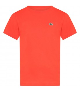Red t-shirt for boy with crocodile
