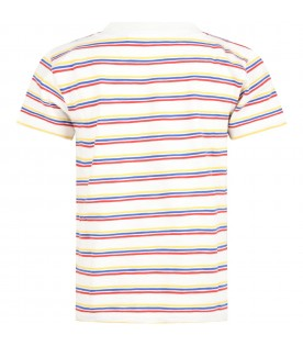 Multicolor t-shirt for boy with crocodile