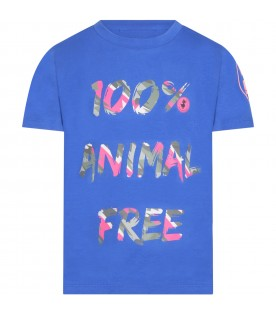 Blue t-shirt for kids with writing