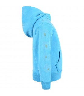 Azure sweatshirt for kids with daisies