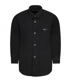 Black shirt for kids with black heart