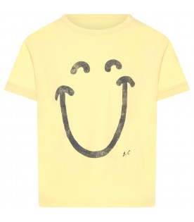 Yellow T-shirt for kids with logo