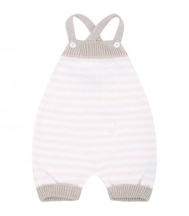 Multicolor dungarees pour baby girl