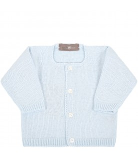 Light blue cardigan for baby boy