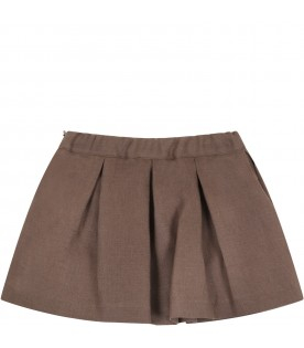 Brown skirt for baby girl
