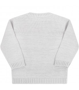 Gray sweater for baby boy